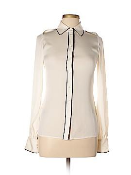 Rachel Zoe Long Sleeve Silk Top Size 2