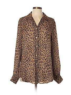 Ralph Lauren Long Sleeve Silk Top Size 12