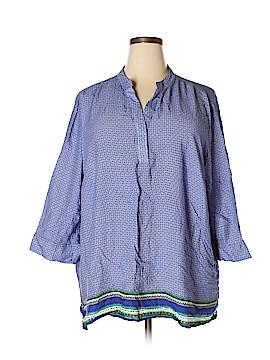 Cynthia Rowley for T.J. Maxx 3/4 Sleeve Blouse Size 3X (Plus)