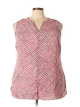 Croft & Barrow Sleeveless Blouse Size 2X (Plus)