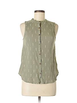 Vanessa Virginia Sleeveless Button-Down Shirt Size 6
