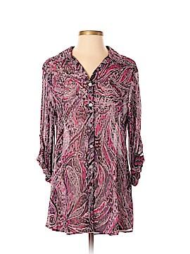 Louben Long Sleeve Button-Down Shirt Size 4