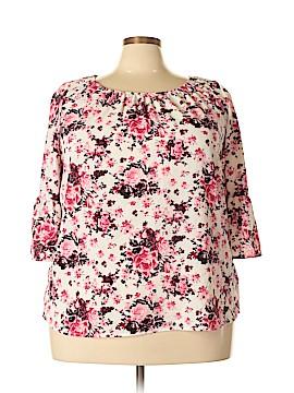Como Black 3/4 Sleeve Blouse Size 2X (Plus)