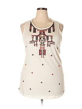 Lucky Brand Sleeveless T-Shirt Size 2X (Plus)