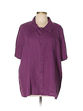 Flax Short Sleeve Blouse Size 10 (M)