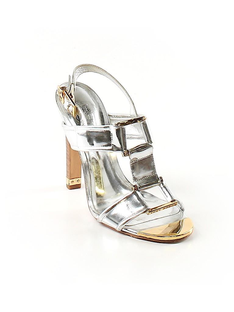 0a37ba1c08d Tory Burch Metallic Silver Heels Size 6 - 79% off