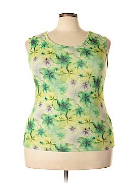 Gallery Sleeveless T-Shirt Size 1X (Plus)