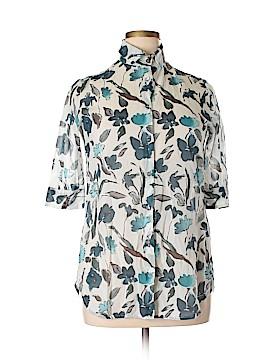 Hache 3/4 Sleeve Button-Down Shirt Size 42 (IT)