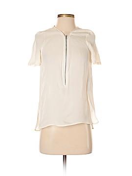 The Kooples Short Sleeve Silk Top Size XS (1)