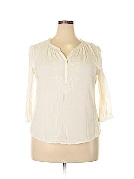 St. John's Bay 3/4 Sleeve Blouse Size XL (Petite)