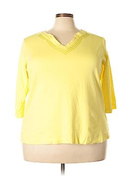 Quacker Factory 3/4 Sleeve T-Shirt Size 2X (Plus)