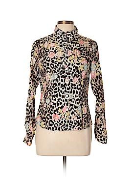 Gerard Darel Long Sleeve Silk Top Size 42 (FR)