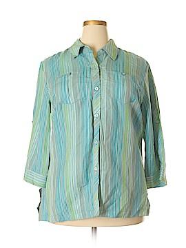 Norton McNaughton 3/4 Sleeve Button-Down Shirt Size 1X (Plus)