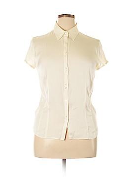 Ann Taylor Short Sleeve Silk Top Size 16