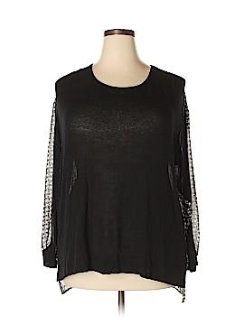 Bobeau Long Sleeve Blouse Size 1X (Plus)