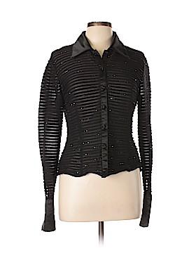 JS Collection Long Sleeve Blouse Size 12 (Petite)