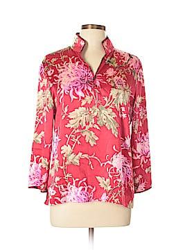 Caslon 3/4 Sleeve Silk Top Size 10