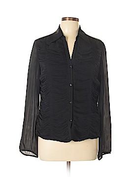 Josephine Chaus Long Sleeve Silk Top Size 10