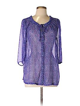 Fashion Bug Long Sleeve Blouse Size 0X (Plus)