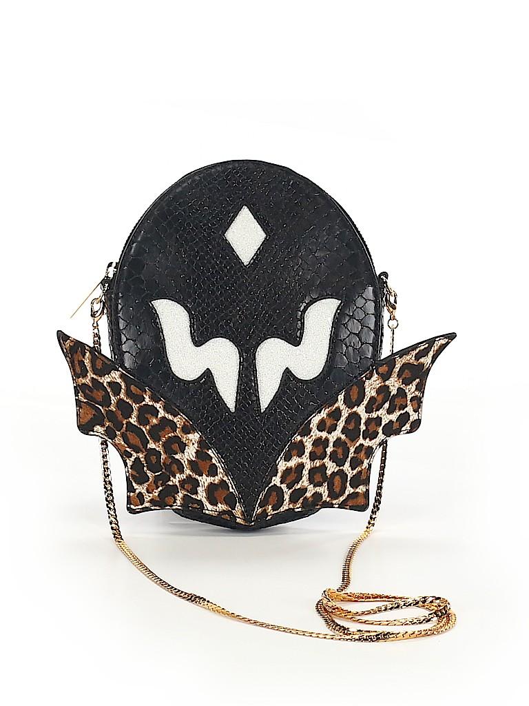 81a9bf60637e Stella McCartney Animal Print Graphic Black Crossbody Bag One Size ...