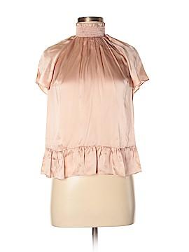 Rachel Zoe Short Sleeve Silk Top Size 6