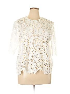 Zara W&B Collection Short Sleeve Blouse Size XL