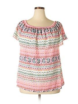 ING Short Sleeve Blouse Size 1X (Plus)