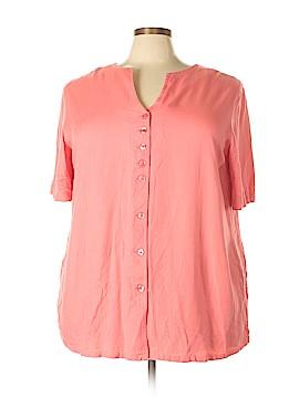 Carolina Colours Short Sleeve Blouse Size 22 (Plus)