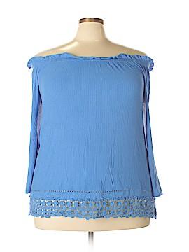 Kim Rogers 3/4 Sleeve Top Size 2X (Plus)
