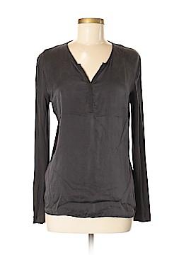 Gerard Darel Long Sleeve Silk Top Size Med (3)