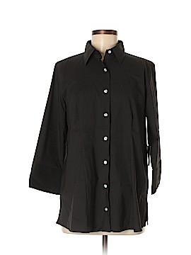 Lands' End 3/4 Sleeve Button-Down Shirt Size M