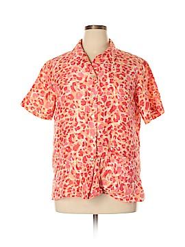 Jordan Short Sleeve Silk Top Size XL