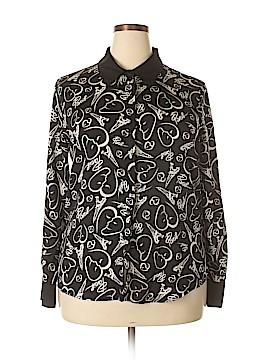 Catherine Malandrino Long Sleeve Blouse Size XL