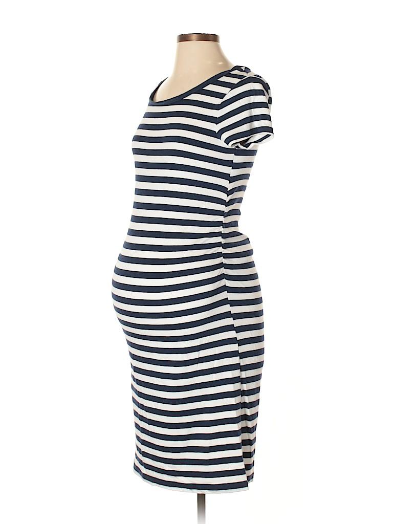 687a1db1b7118 Liz Lange Maternity for Target Stripes Dark Blue Casual Dress Size ...