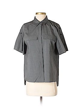 Gerard Darel Short Sleeve Button-Down Shirt Size 4 (36)