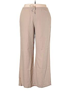 Valerie Stevens Linen Pants Size XL