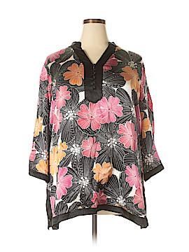 Alfani 3/4 Sleeve Silk Top Size 24 (Plus)