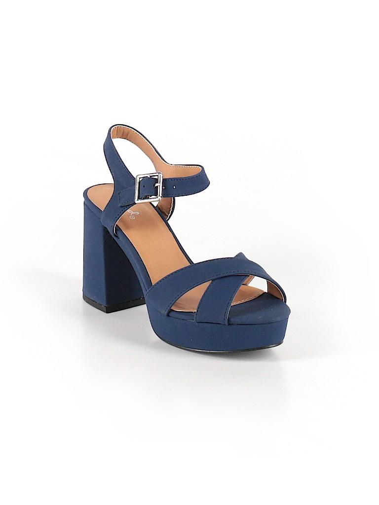 06eddb7908 Qupid Solid Navy Blue Heels Size 7 - 60% off | thredUP