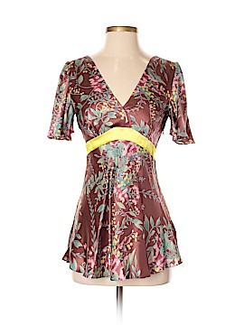 Hype Short Sleeve Silk Top Size S