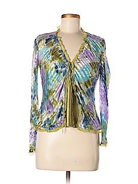 Carole Little Long Sleeve Silk Top Size M