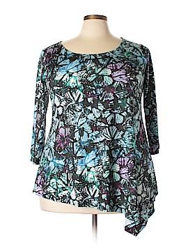 Isabel + Alice 3/4 Sleeve T-Shirt Size 2X (Plus)