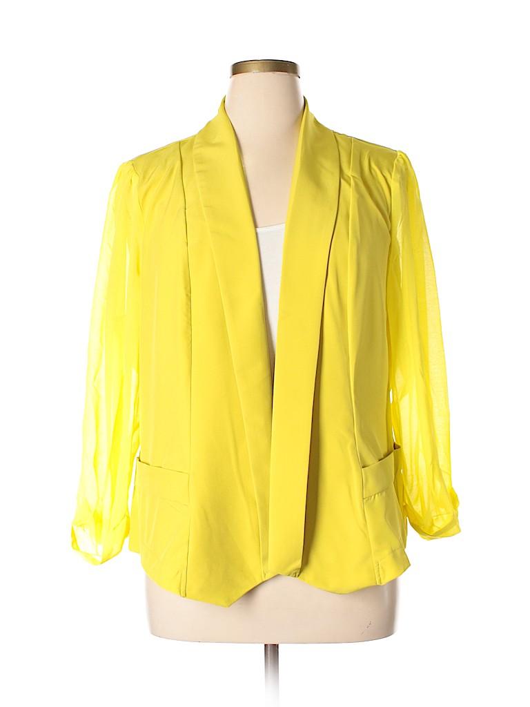 City Chic Women Blazer Size 22 Plus (L) (Plus)