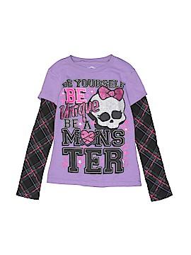 Monster High Long Sleeve T-Shirt Size 6 - 6X