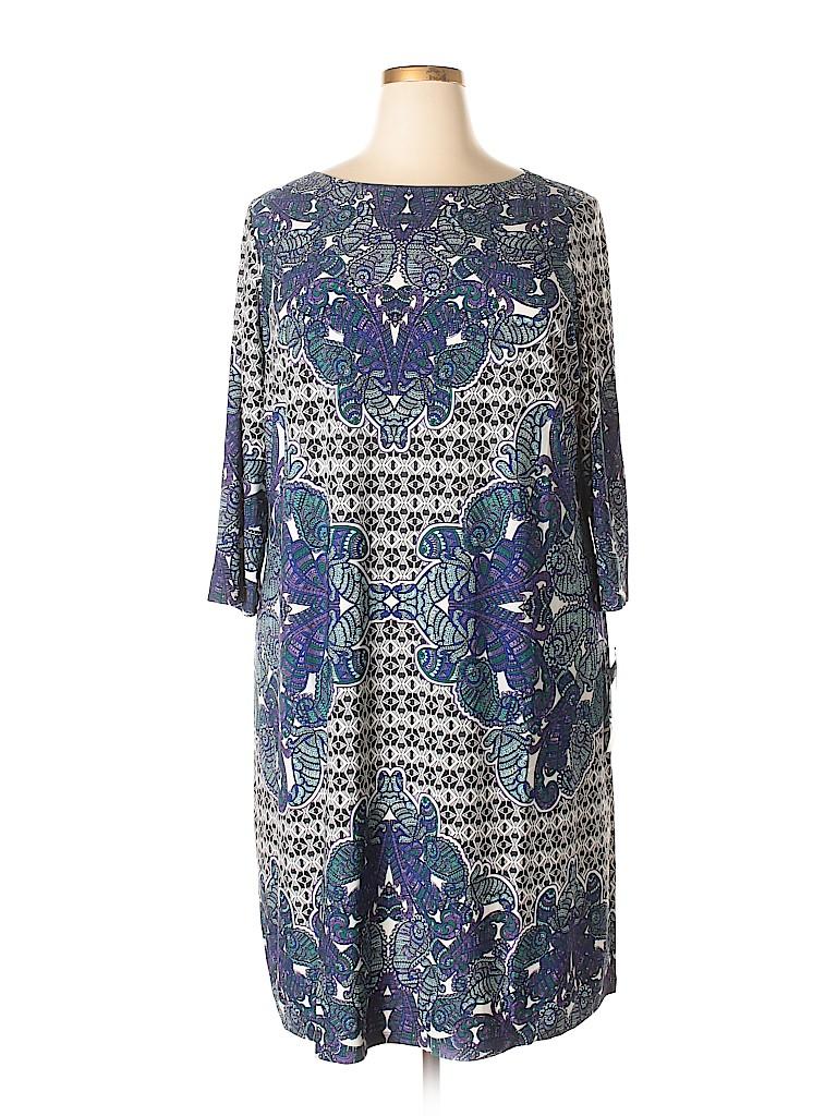 London Times Women Casual Dress Size 22W (Plus)