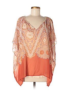 Maeve Short Sleeve Silk Top Size M
