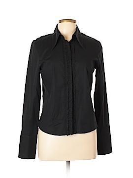Liquid Long Sleeve Button-Down Shirt Size L
