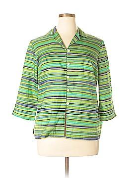 Sag Harbor 3/4 Sleeve Button-Down Shirt Size 16