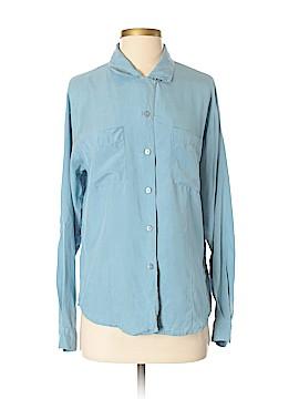 Laura Scott Long Sleeve Silk Top Size S