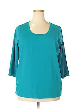 Preswick & Moore 3/4 Sleeve T-Shirt Size 2X (Plus)