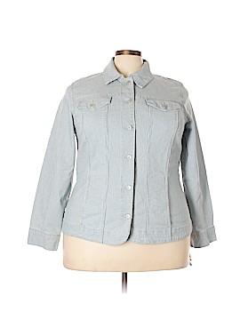 Charter Club Denim Jacket Size 2X (Plus)
